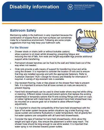 Disability Bathroom Information